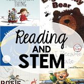 Ways to use reading and STEM together. Post includes books and STEM ideas.