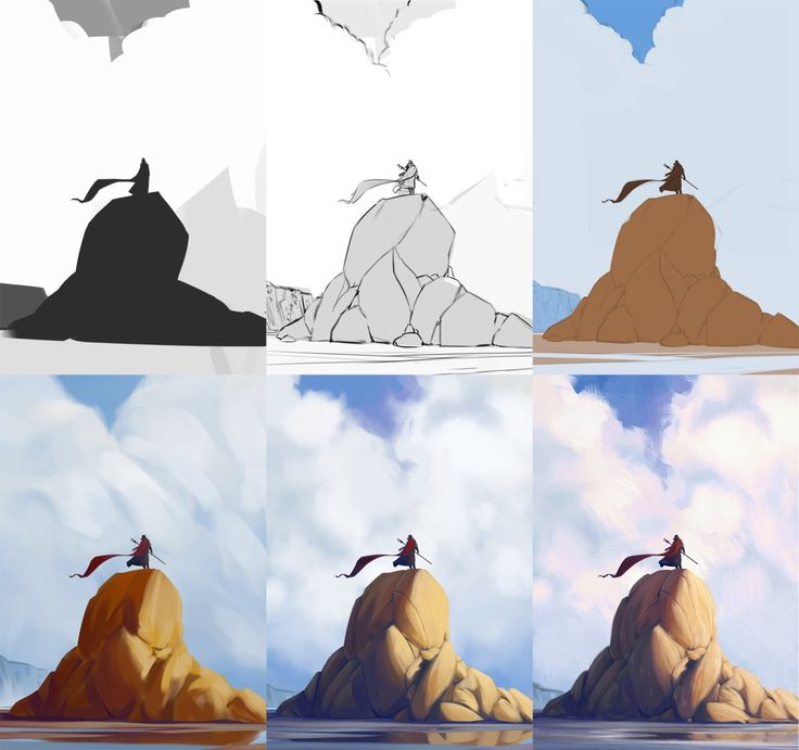 Photo Manipulation Techniques Character Design Process : Best images about digital painting type on pinterest
