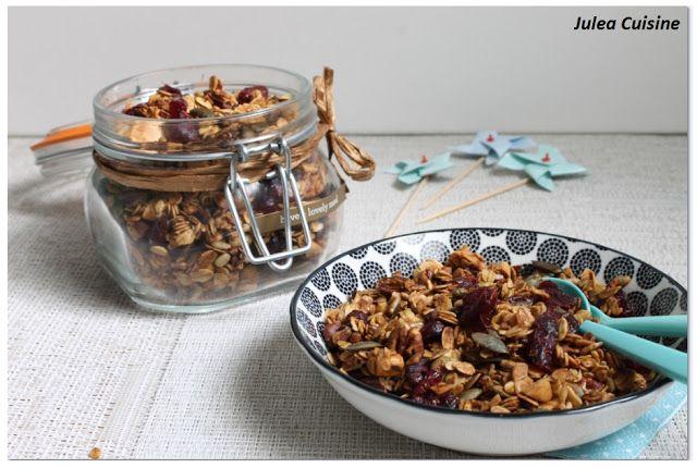 Julea Cuisine - Ma petite cuisine au quotidien: Granola maison - pour un ptit dej de compet' !