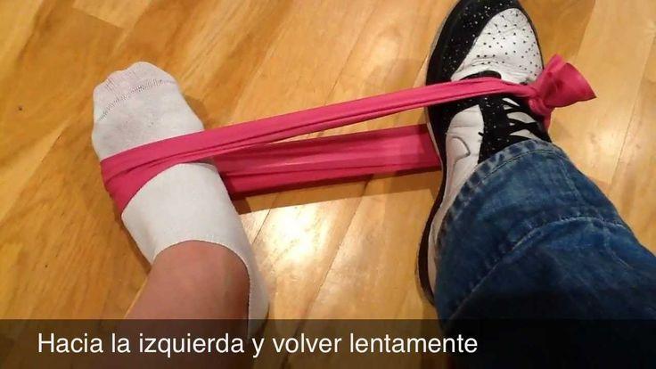 Ejercicios rehabilitación esguince de tobillo, via YouTube.