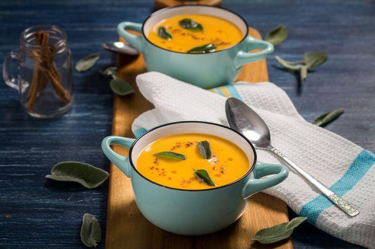 Supa crema de cartof dulce cu mar si scortisoara – Mike The Chef