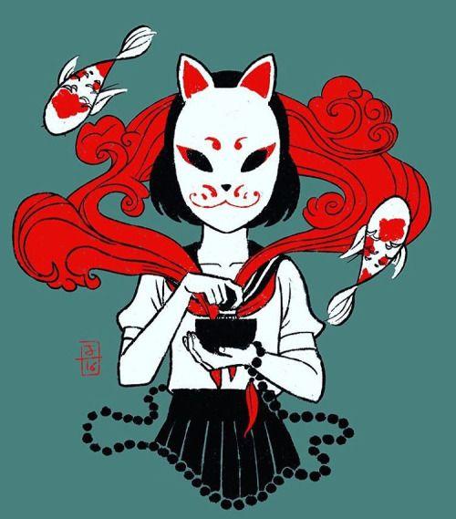 Best 25+ Kitsune Mask Ideas On Pinterest | Japanese Fox Mask Japanese Mask And Mask Making