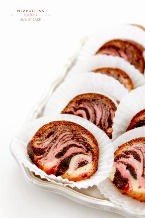Neapolitan Zebra Cake - Bakers Royale