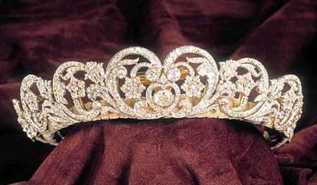 The Spencer Tiara; Although worn by several Spencer women, this tiara is most associated with Diana, Princess of Wales. Worn most famously at her wedding in 1981 as her something borrowed.