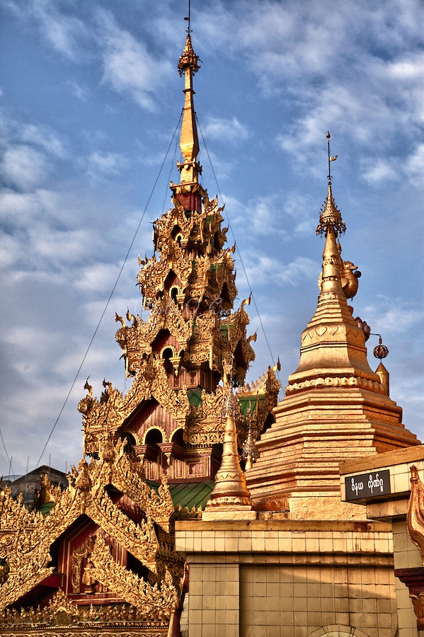 Sule Pagoda in Yangon Myanmar