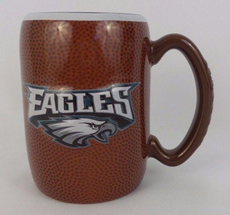 Philadelphia Eagles Coffee Cup Mug NFL NEW Boelter Brands Embossed 16 Oz 2013 #BoelterMugs #PhiladelphiaEagles