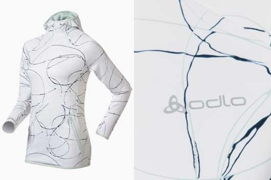 Abstract: decorative image of Massimo Gardone which develops all-over on Odlo Running's products fall winter 2013 2014