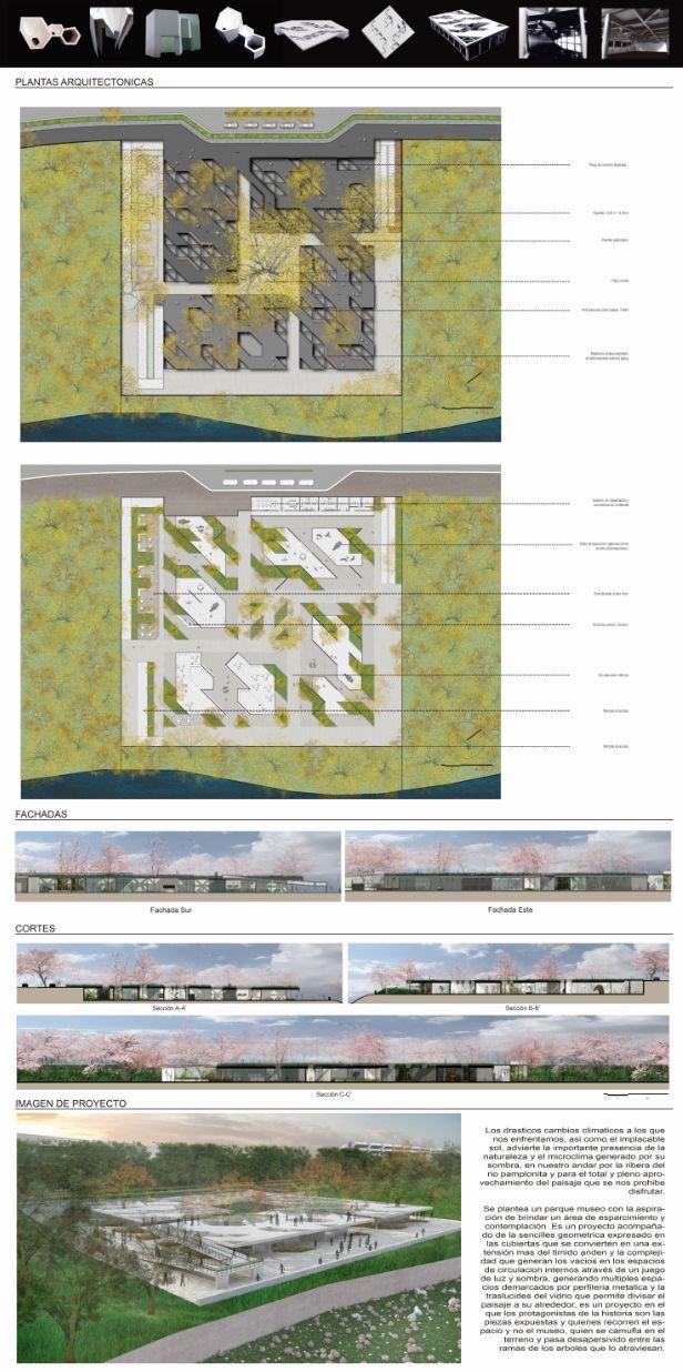PARQUE MUSEO DE LUZ Proceso conceptual maquetas de recorte Plantas Arquitectónicas Cortes - Fachadas - Imagen 3D.