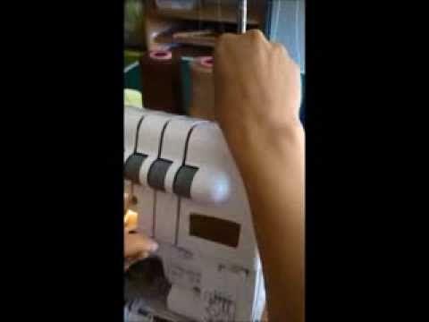 La surjeteuse : Enfilage et surjet 4 fils - YouTube