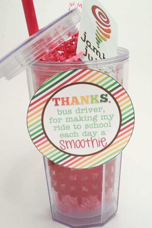 inexpensive and easy bus driver gift