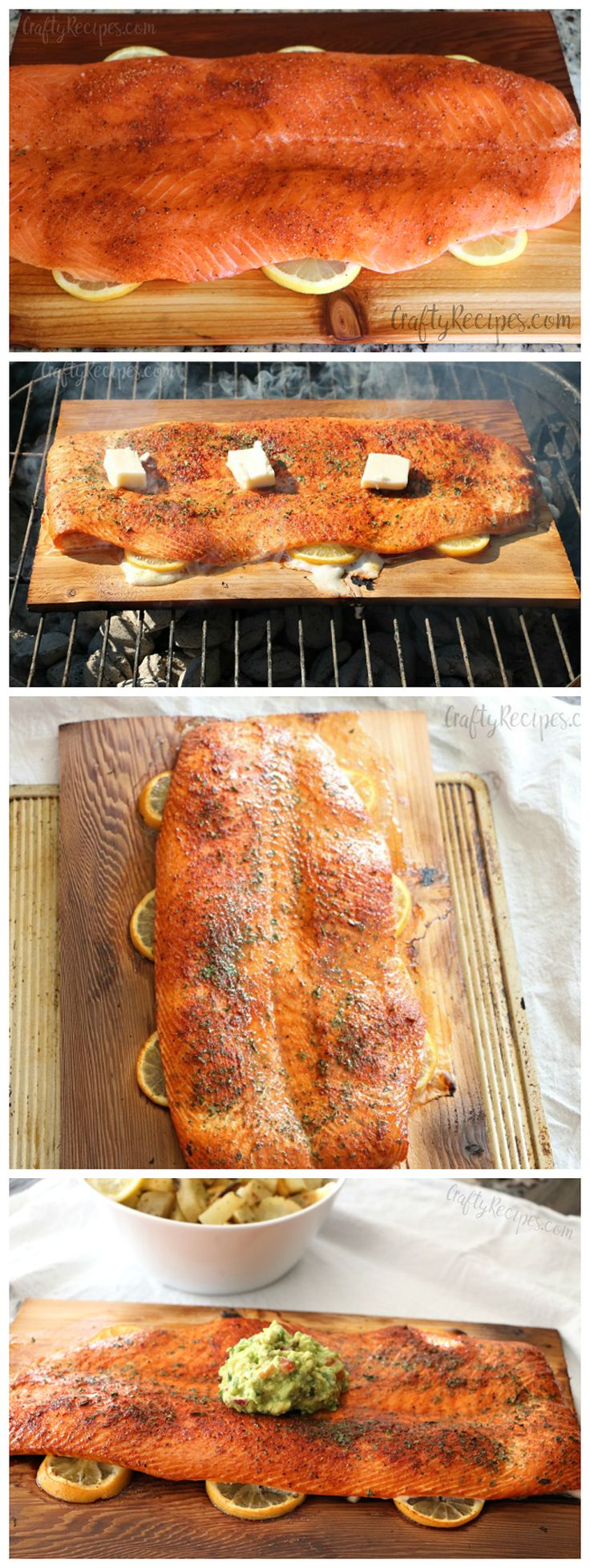 Cedar Plank Lemon Salmon Recipe - This is soo yummy on the grill for summer! Perfect dry rub too
