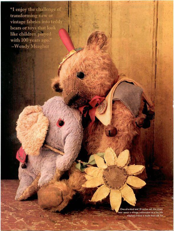 Teddy-Bears.Org : Teddy Bear Artist Whendi's Bears by Wendy Meagher