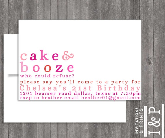 SANNA   21ST Birthday invite by invitationsandprints, $15.99