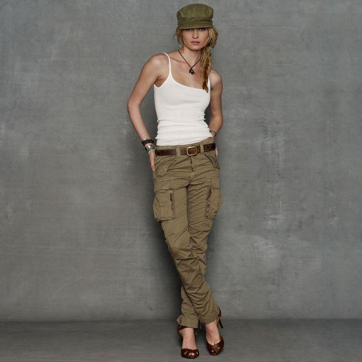 Skinny Cargo Pant - Women's Shop All  Women - RalphLauren.com
