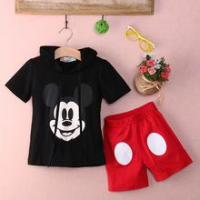 Baby Boy Cartoon clothing 2016 Summer Girls Kids Minnie Mouse Clothes Tops+Dress tutu Pants Outfit Suit(China (Mainland))