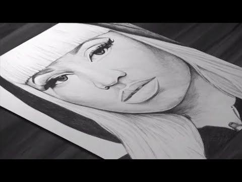 Pen Drawing Of Nicki Minaj - Freehand Art