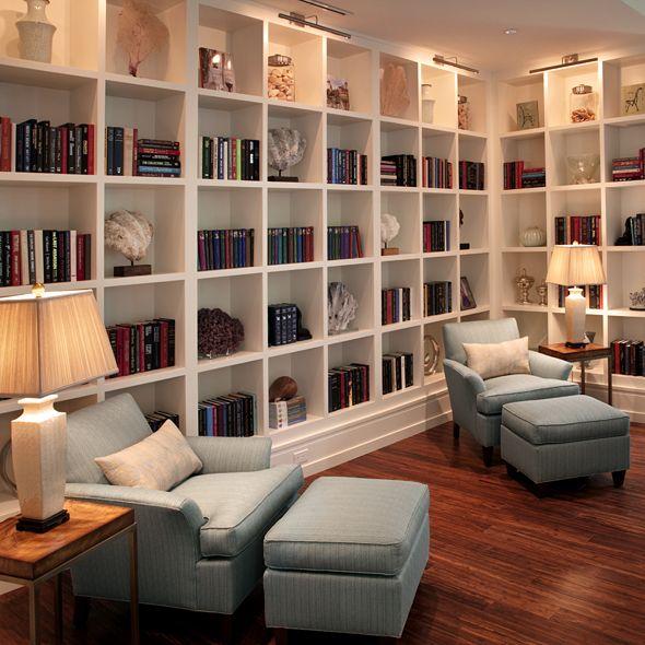 obsessively neat and organized built in bookshelves - kahn design group