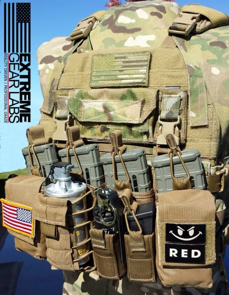 EGL Porker and HS D3 chest rig