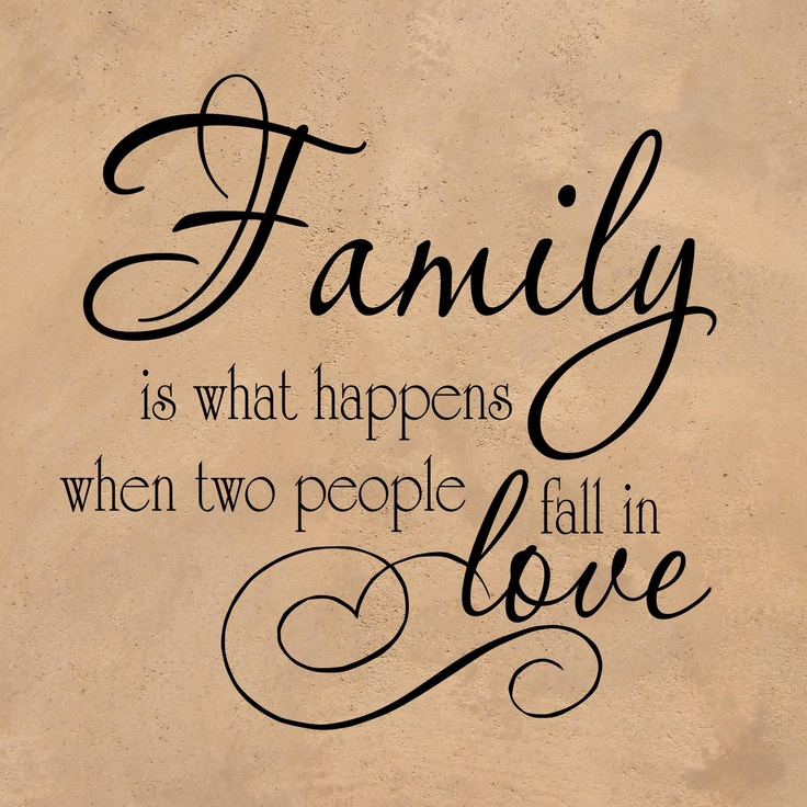 "Wall Decal ""Family is what happens when two people fall in"
