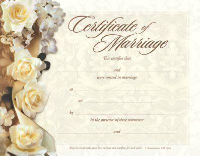 Keepsake Marriage Certificate u2748