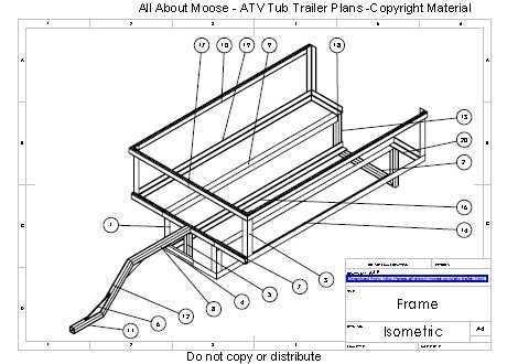 Atv trailer plans tub trailer utv stuff pinterest for Atv shed plans