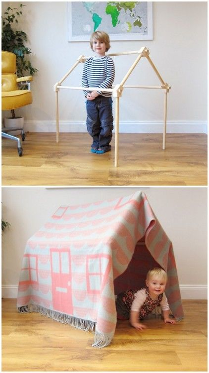 Instructions for making a fort. Kids should love it!!!