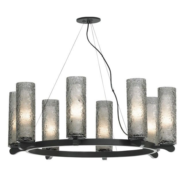 Lbl lighting rock candy 8 light chandelier uniquely textured mouth blown glass cylinders give the lbl lighting rock candy 8 light chandelier a stunning