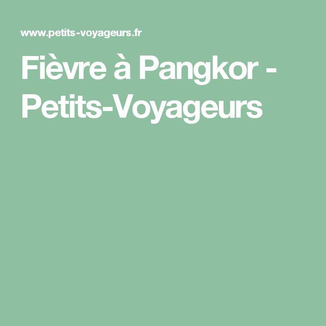 Fièvre à Pangkor - Petits-Voyageurs