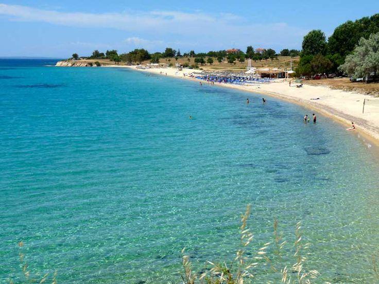 Agios Ioannis beach, by Nikiti, Sithonia.