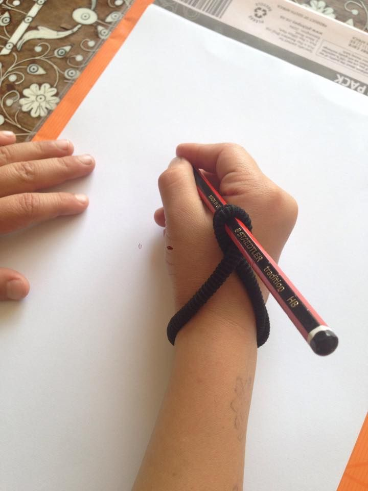 Pencil Grip Help Quot Wrap A Hair Tie As Shown Kids Get Used