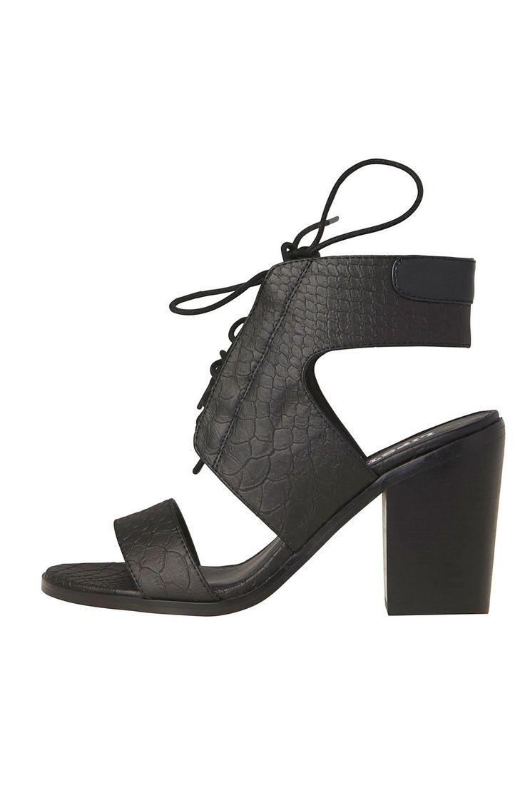 Lipstick Block Heel Lace Up Sandal - The Brand Store on EziBuy New Zealand