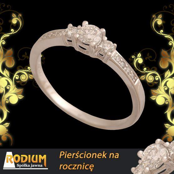 Złote pierścionki - Pierścionek idealny na rocznicę, z okazji urodzin, imienin od święta i na co dzień.