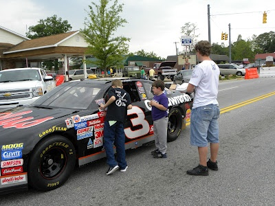 Pickens Azalea Festival - Saturday - In 2012, we had the Dale Earnhardt car and NASCAR simulator on the west end. Who knows what fun is in store for this year? :)