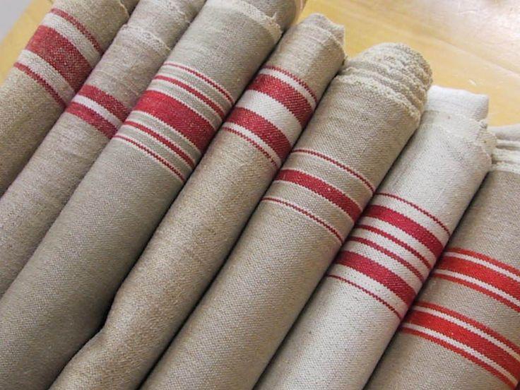 Leinen MANGLE CLOTH, TOP 3 Meter unbeschädigtes Reines Leinen Mangeltuch Rolltuch, rote Außenkante. von leinen-textilien bei DaWanda