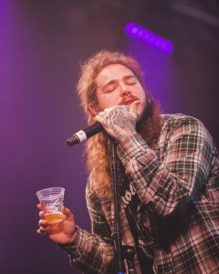 """3,712 Likes, 65 Comments - Post Malone (@postybae) on Instagram: """"what song do you think he's singing?  #postmalone"""""""