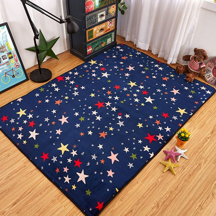 ==> [Free Shipping] Buy Best Color Star navy blue Infant Playmat Children Carpet Activity Mats For Kids Baby Games Rug Crawling Mat Soft Floor Pad Online with LOWEST Price | 32698241653