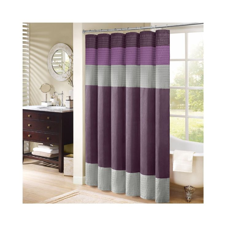 Update Your Bathroom With This Simple, Yet Beautiful Madison Park Amherst Shower  Curtain. Faux Silk Dupioni Fabric Drapes Beautifully And Is Easy To Care ...