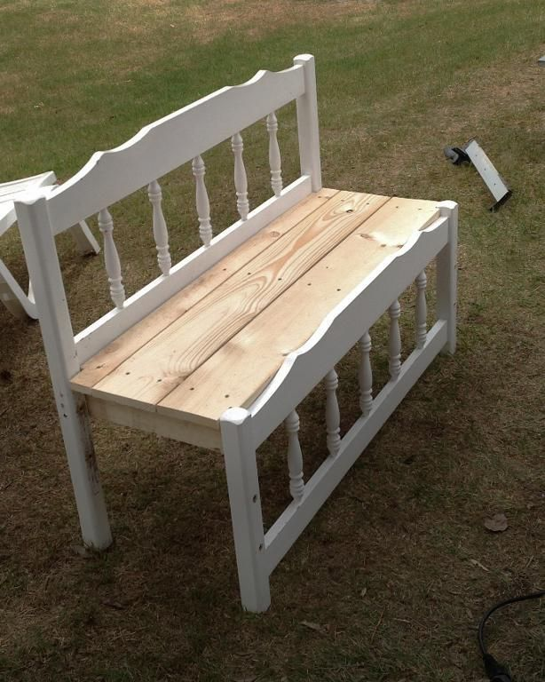 From old bed to garden bench by IntFrugalista | Home & Garden Ideas
