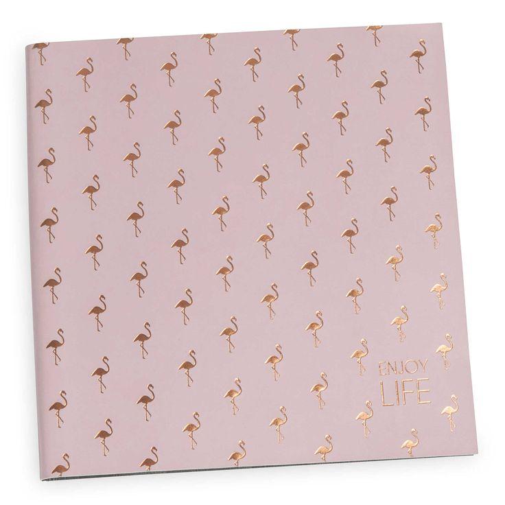 Roze album voor 150 foto's FLAMINGO