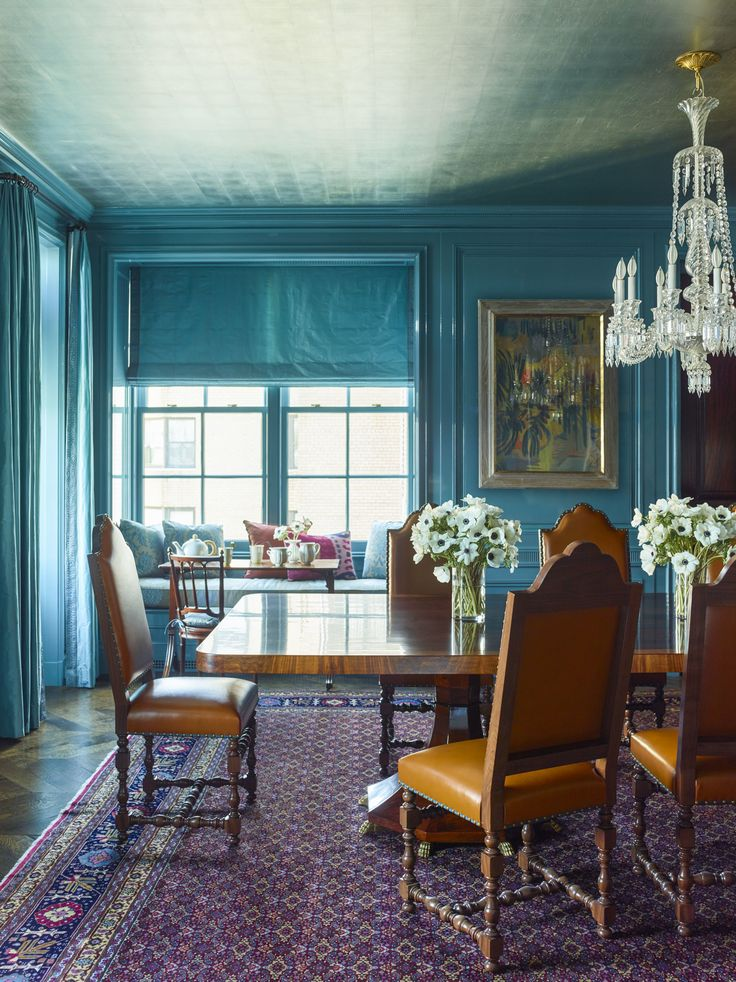 Farrow & Ball's Stone Blue Paint Color (it has a touch of red in it, making it work with warmer tones)