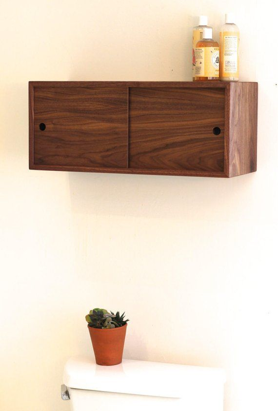 Floating Bathroom Storage Cabinet With