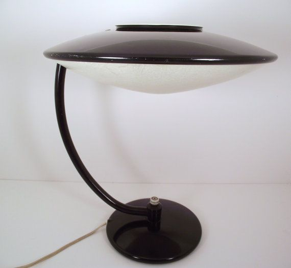242 best atomicretro blackorangewhite home decor images on vintage 1950s black dazor flying saucer desktable lamp mid century mod rare model 2006 mozeypictures Choice Image