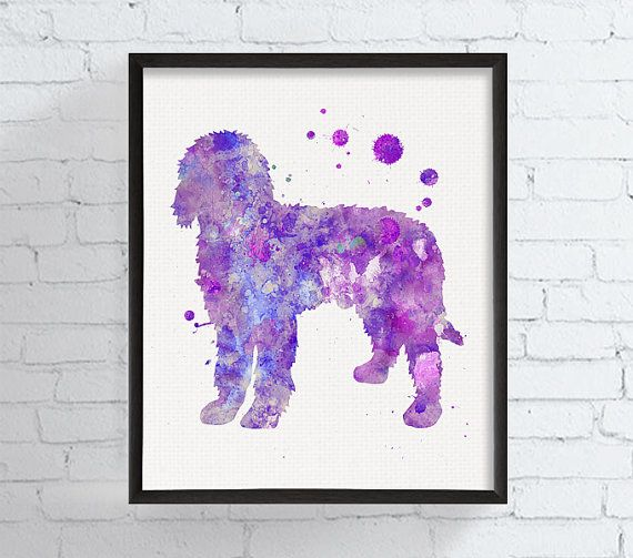 Watercolor Goldendoodle Goldendoodle Art by MiaoMiaoDesign on Etsy