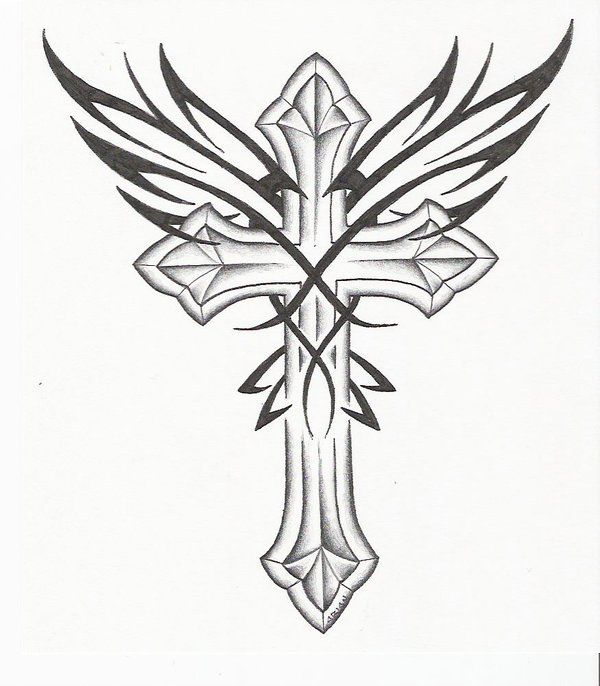 Cross Tattoo Designs | Cross Tattoos with Wings