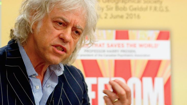 Bob #Geldof @ 'FREEDOM' (by Jeremy Griffith) book launch, June 2016
