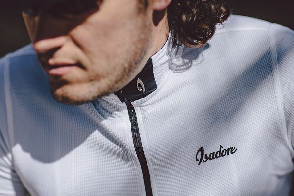 Isadore - Woolight Jersey Brigh White Men - Hot summer riding cycling jersey #isadoreapparel #roadisthewayoflife #cyclingmemories