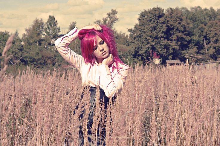 #color hair #colorhair #pink hair #pinkhair #girl #portrait  #цветные волосы #цветныеволосы #розовые волосы #розовыеволосы #девушка #портрет #mf #missforiz #nature #природа #поле