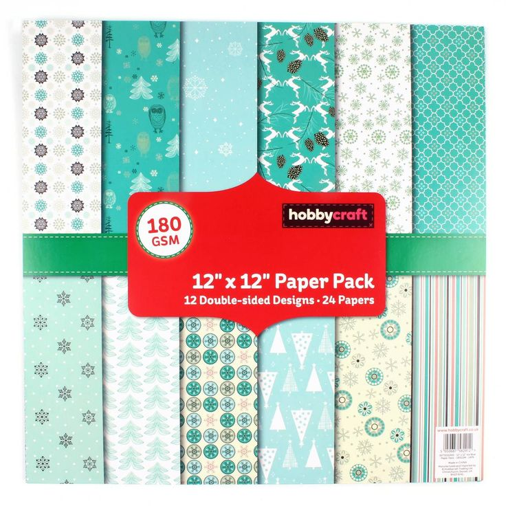 Christmas Ice Blue Pattern Paper Pad 12 x 12 Inch 24 Pack