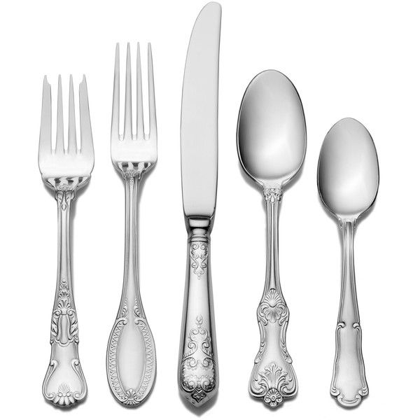 Wallace Hotel Lux 20 Piece Flatware Set ($46) ❤ Liked On Polyvore Featuring