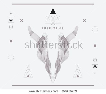 Vector Abstract Animal Poster Templates, Wave Skull Graphic Collection, Abstract Hipster Backgrounds, Brochures, Blend Wild Animal Elements, Geometric Background